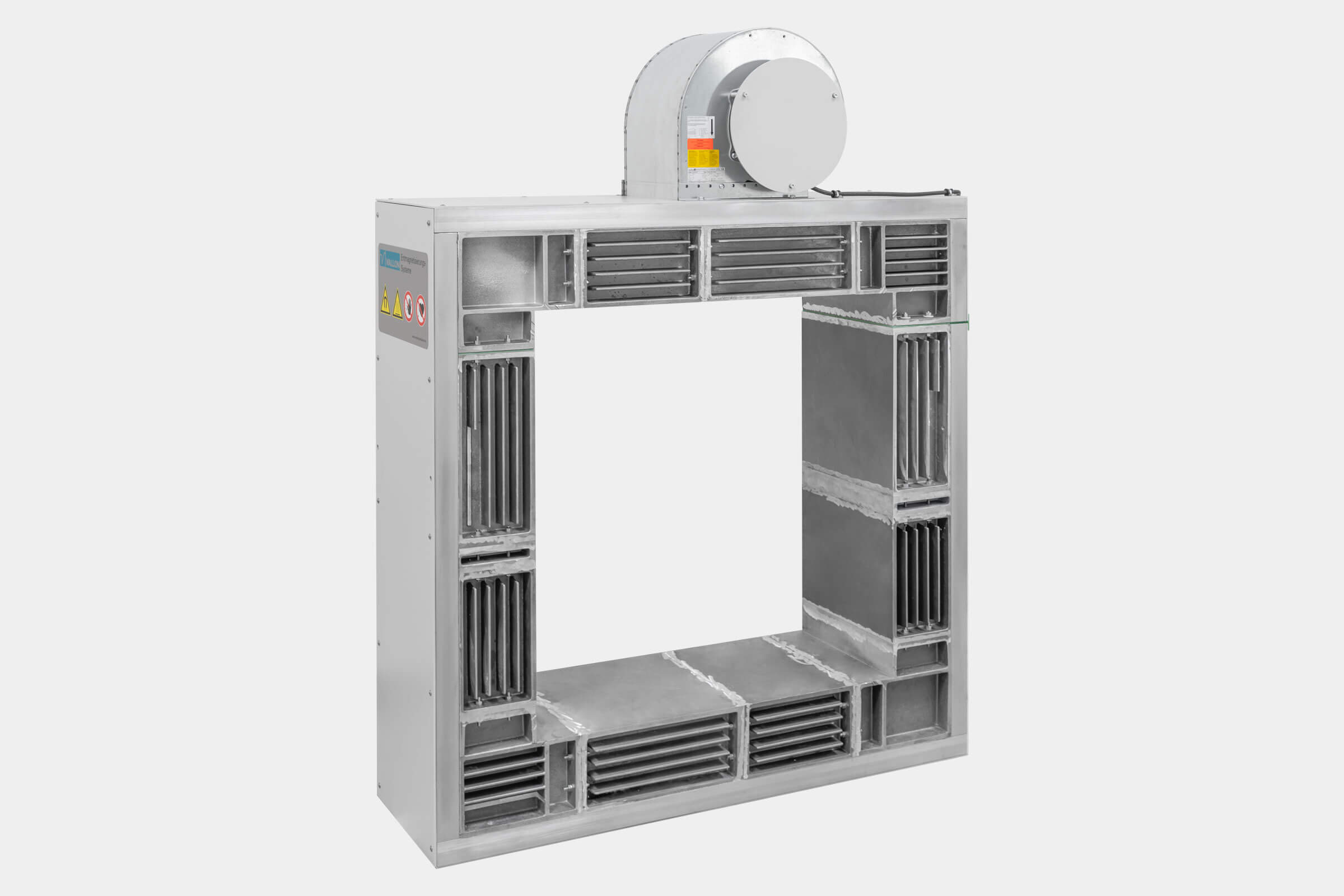 High-performance coil type A for low frequent degaussing of hard steels, massive work pieces, semi-finished goods and tubes bundles